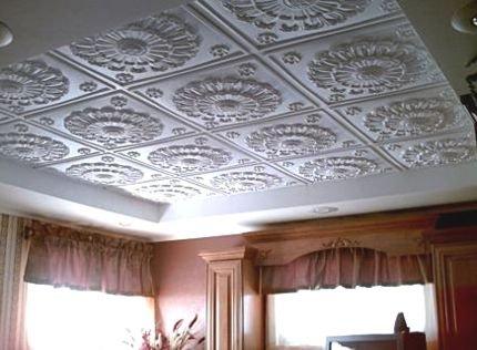Клеевые потолки своими руками