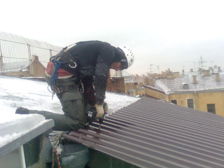 Как устранить течь в крыше..