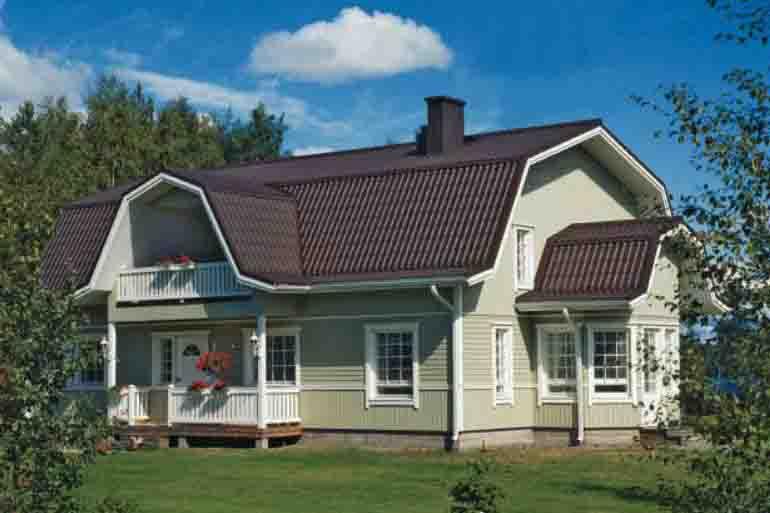 ломаная крыша вальмовая фото