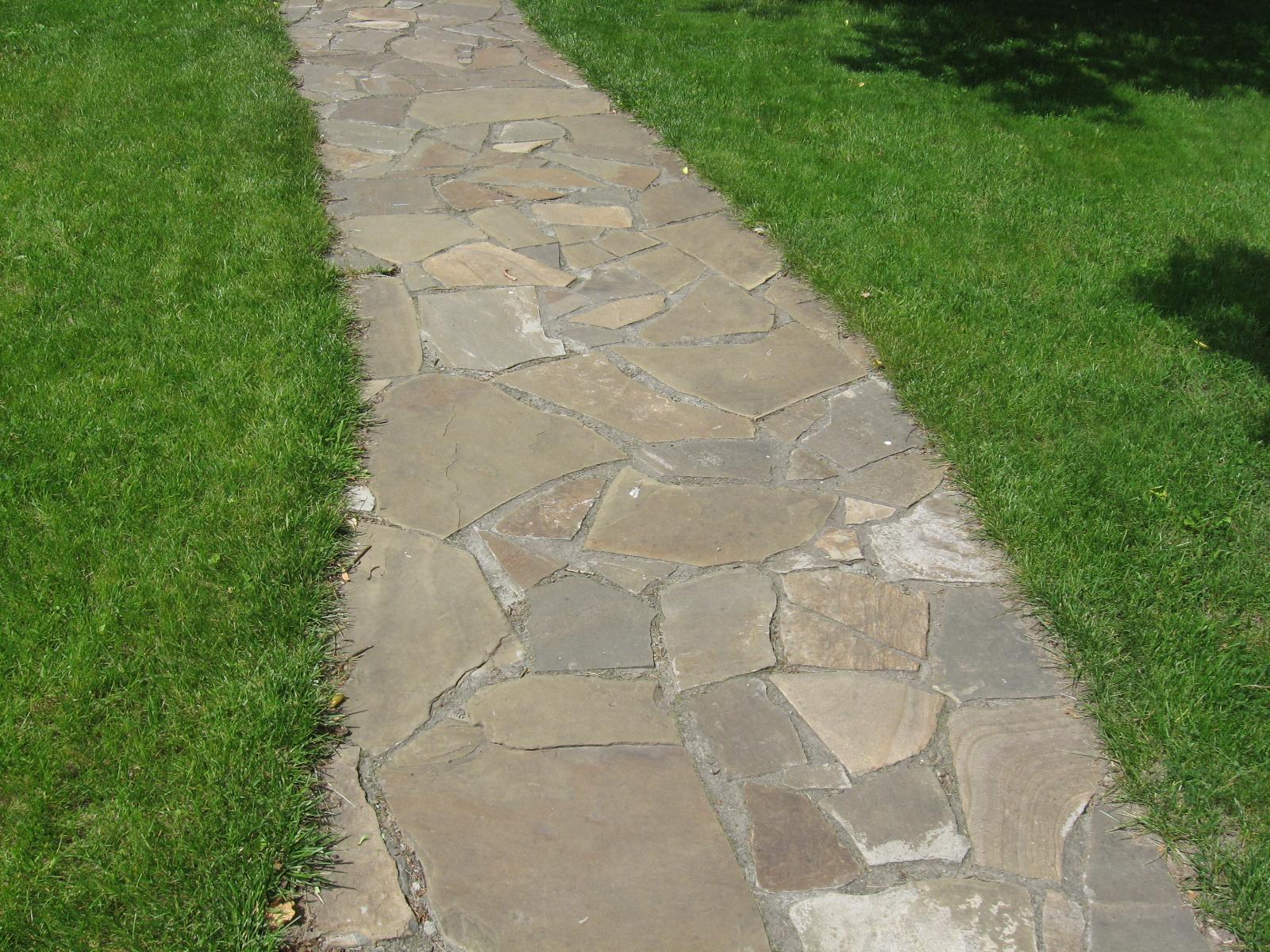 Тротуарные дорожки из натурального камня своими руками