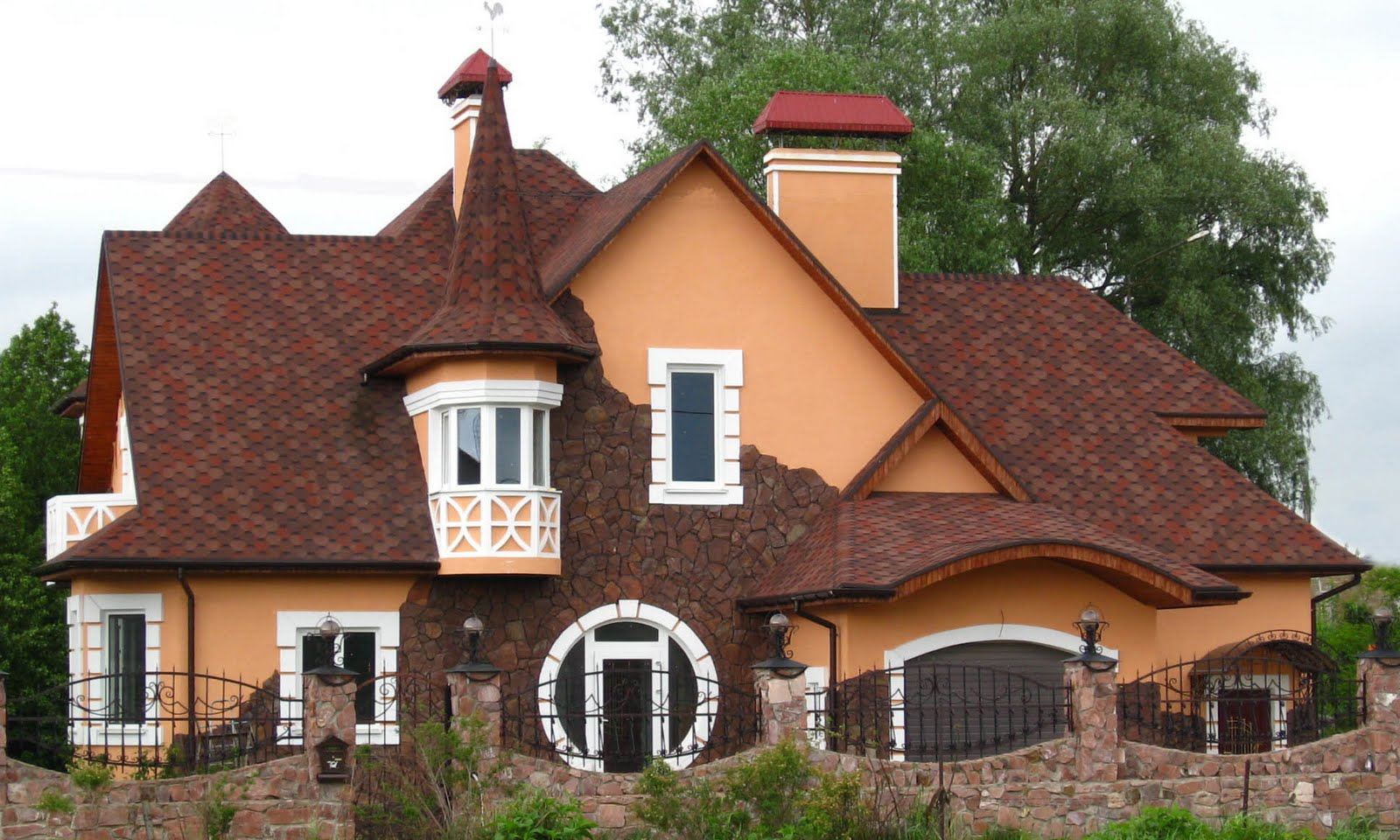 крыша трапецией схема