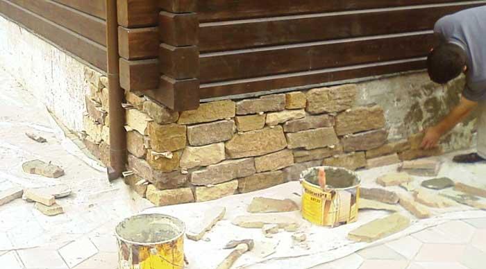 Фундамент дома из камня своими руками