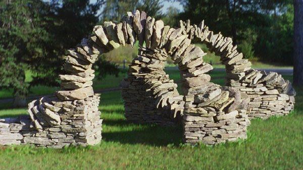 Как сделать каменную арку в саду своими руками