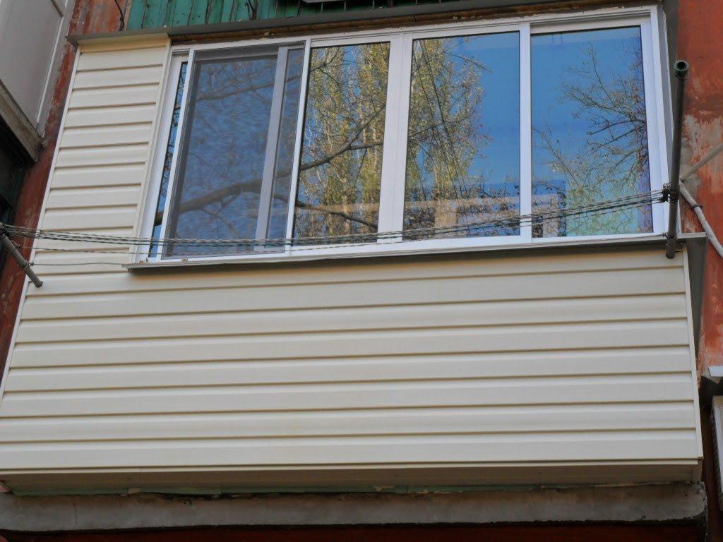 Видео как отделать сайдингом балкон..
