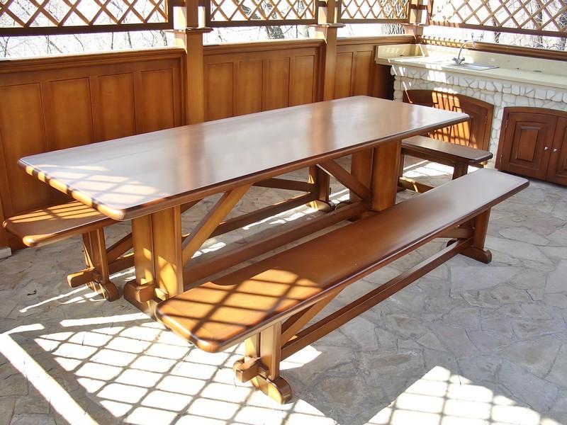 Деревянные лавки и столы в беседку своими руками