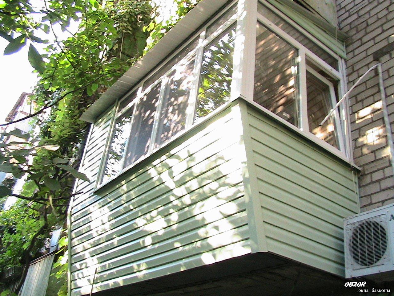 Наружная отделка балконов особенности. - металлопластиковые .