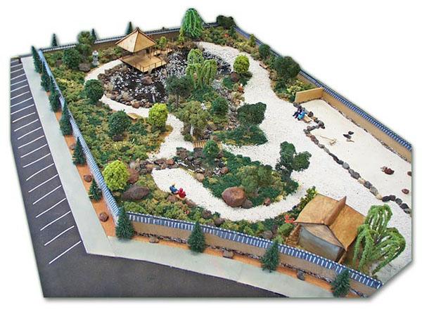 Японский сад своими руками макет