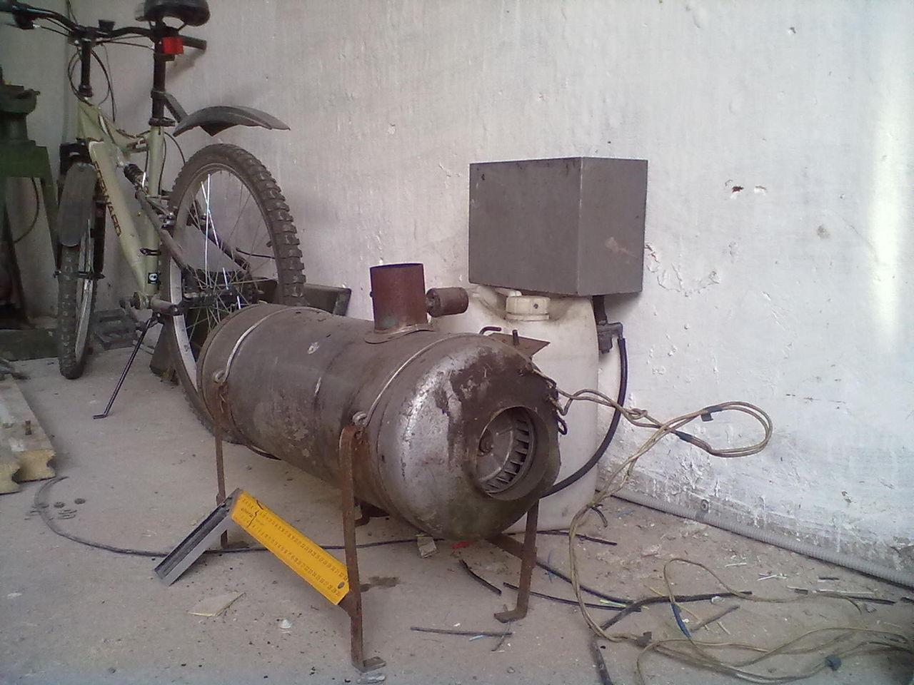 Печка на газу своими руками фото