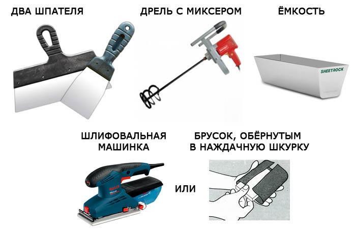 Инструменты для выравнивания стен своими руками