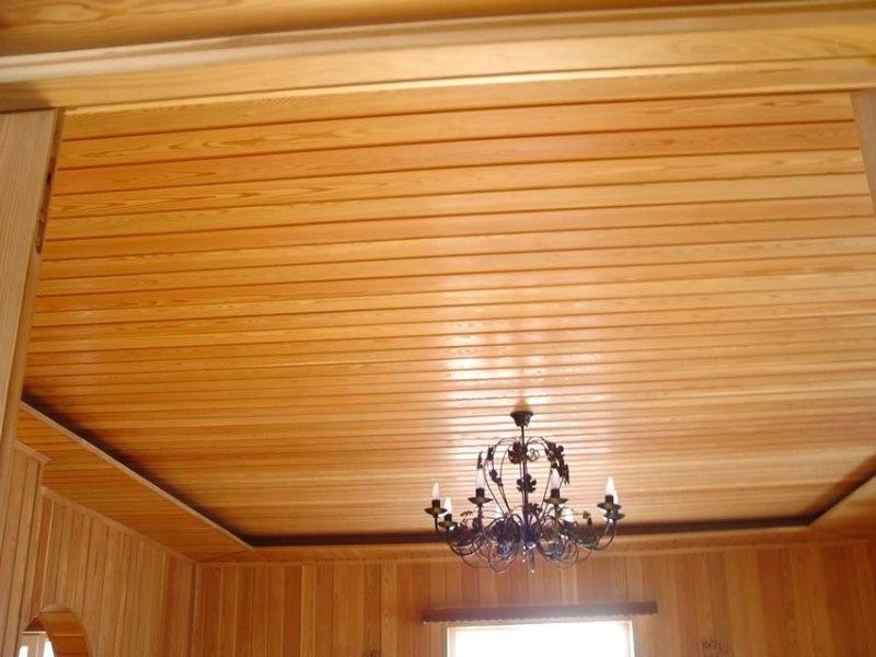 Вагонка дизайн потолков