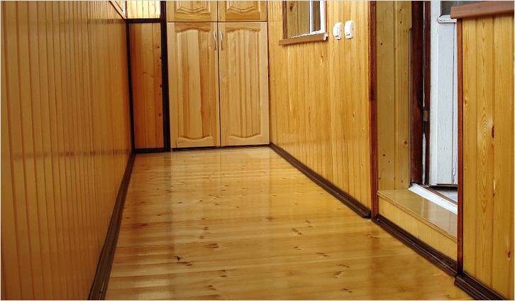 Балкон в хрущевке как сделать деревянный пол..