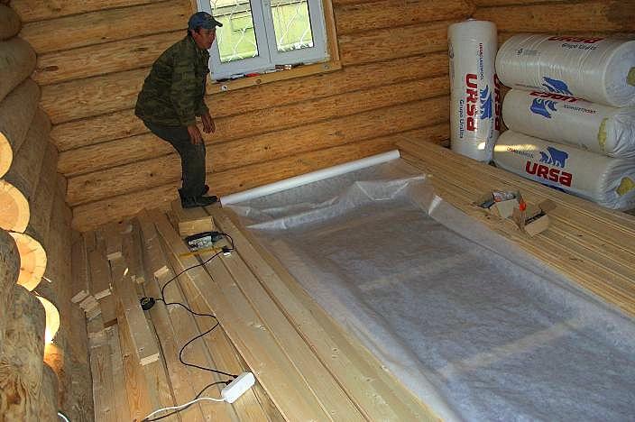 Полы деревянном доме своими руками