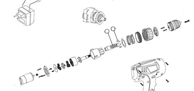 Схема редуктора шуруповерта макита