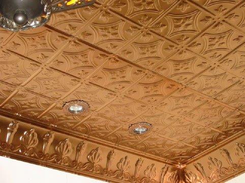 Потолок из плиток своими руками