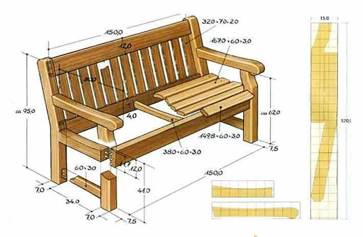 Как своими руками сделать скамейку