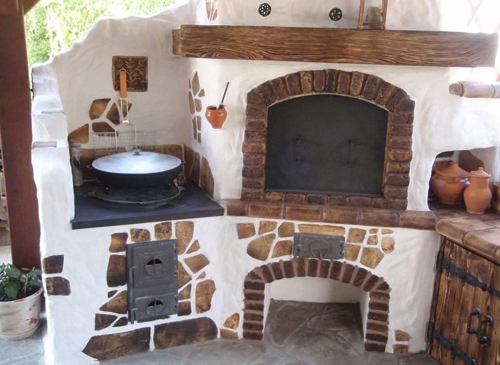 Печь мангал для дома