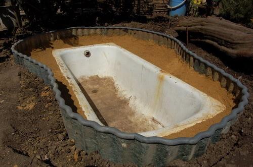 Ванна для дачи своими руками