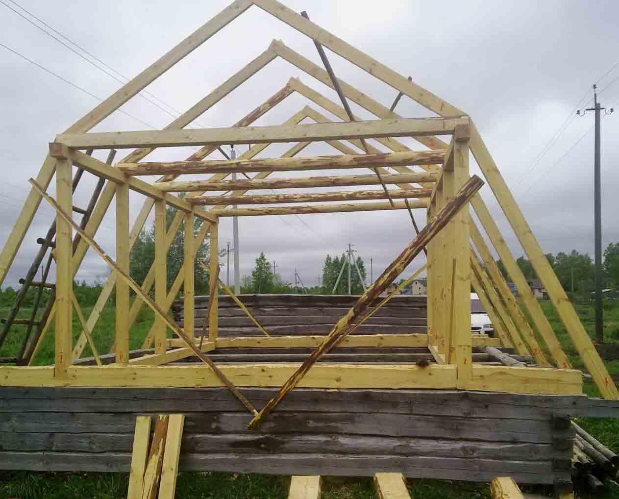 Как строить крышу своими руками фото