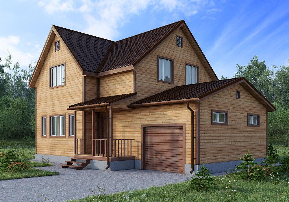 Лучшие деревянные гаражи