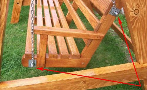Как сделать качели деревянные своими руками