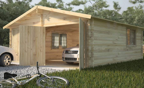 Строительство гараж из бруса своими руками 1