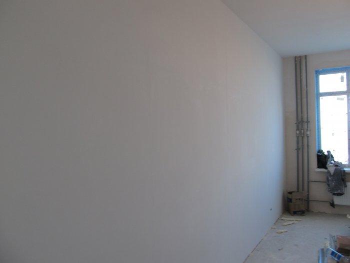Шпаклевка стен под обои фото