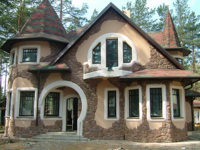 Фасад на даче своими руками