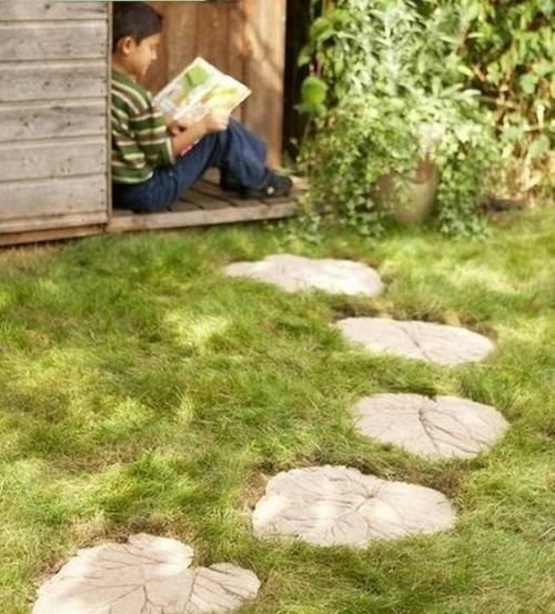 Плитка для сада своими руками фото