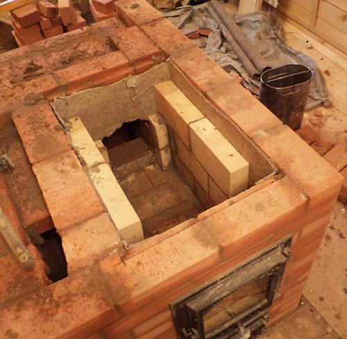 Огнеупорный кирпич в сочетании с обычным в строительстве