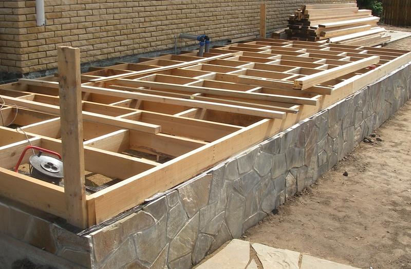 Как построить террасу к дому своими руками с фото