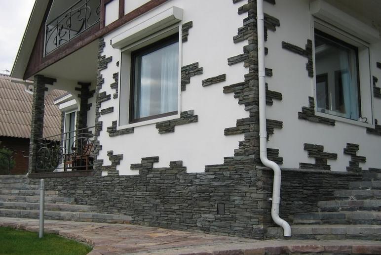 Как украсить фасад дома своими руками фото к новому году