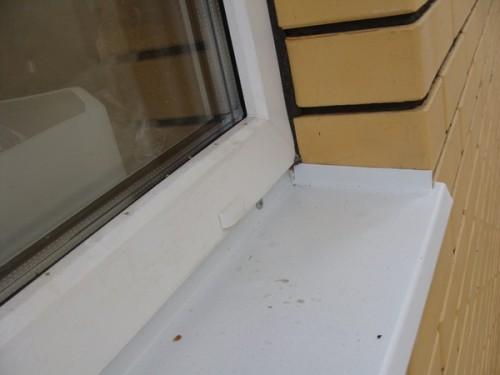 Установка отливов на окна