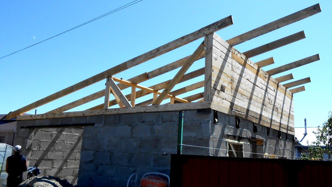 Крыша у гаража своими руками односкатная