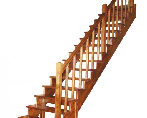 Как закрепить балясины сделанной из дерева лестницы