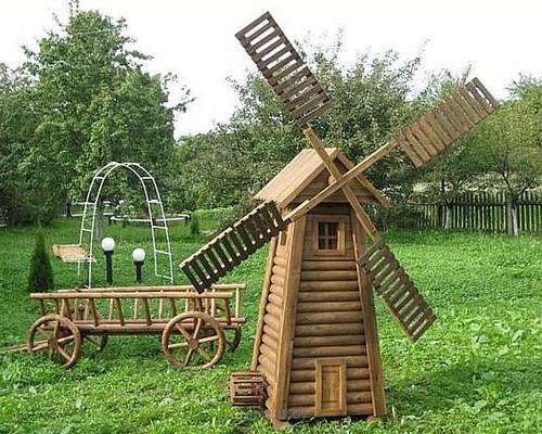 Мельница для сада своими руками чертеж