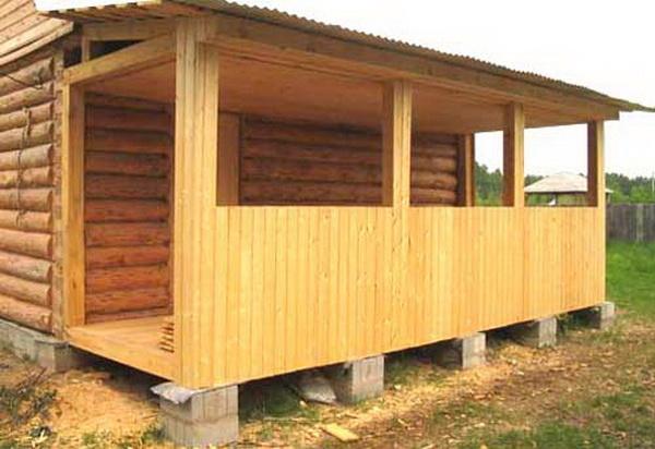 Сделать деревянную веранду своими руками