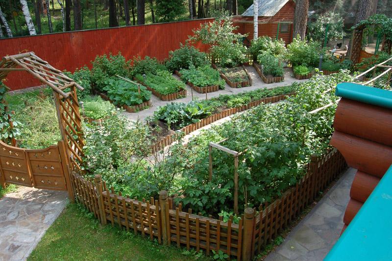 Как оформить сад и огород своими руками фото