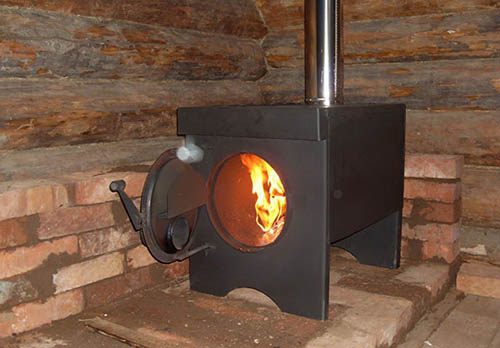 Металлическая печка своими руками