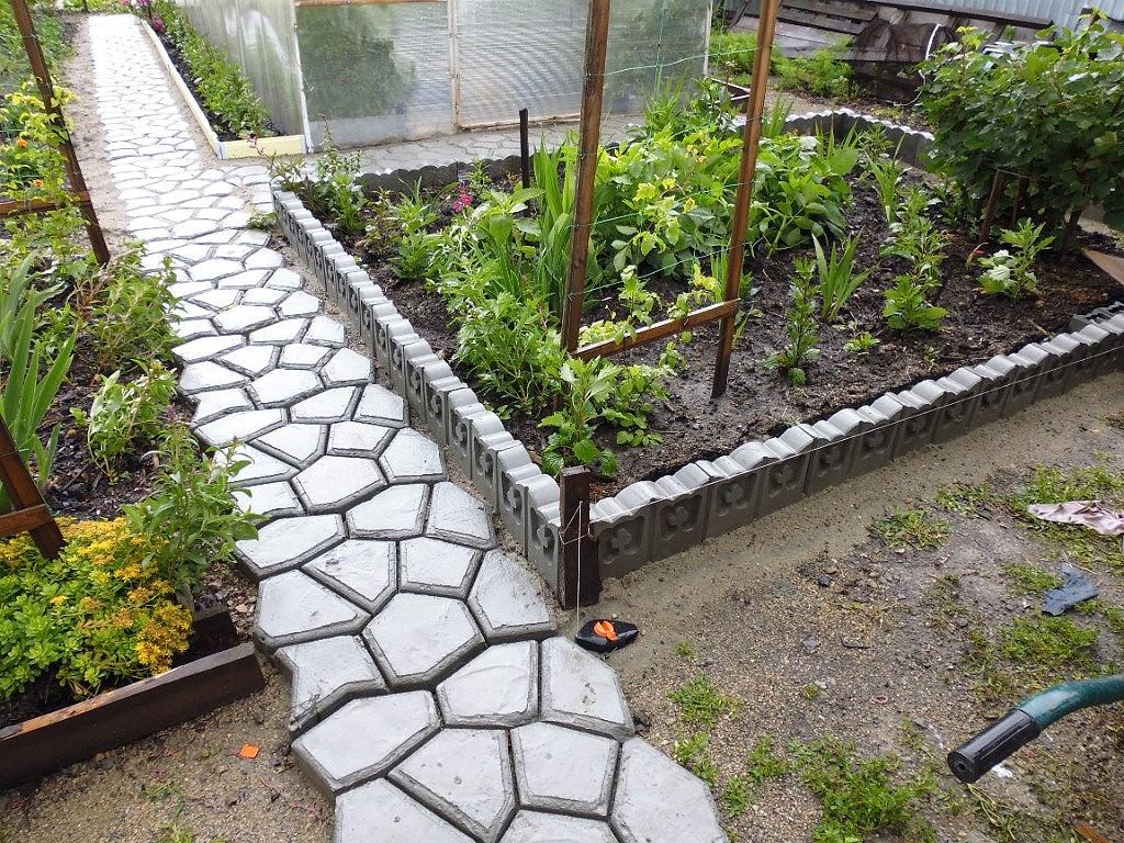 Садовая дорожка из пластиковых форм своими руками фото 699