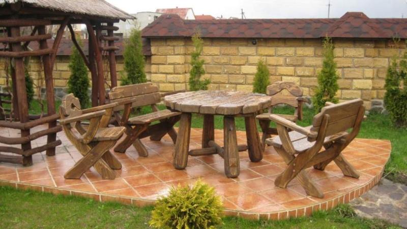 Мебель для дачи и сада из дерева