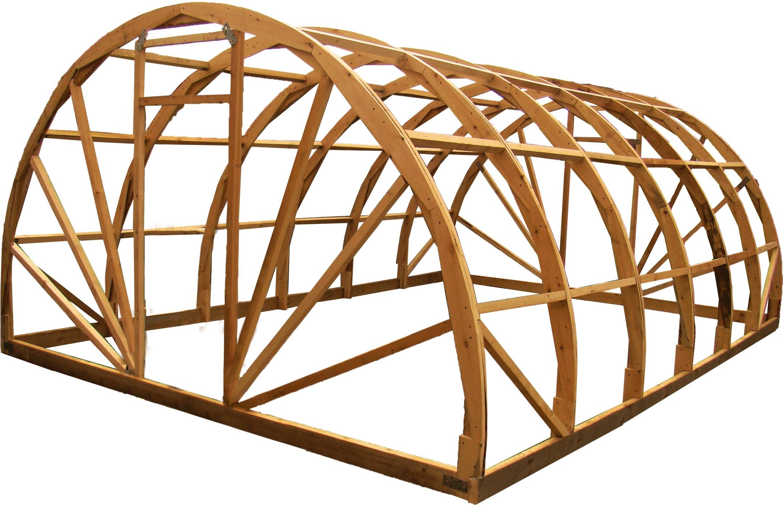 деревянный каркас теплицы