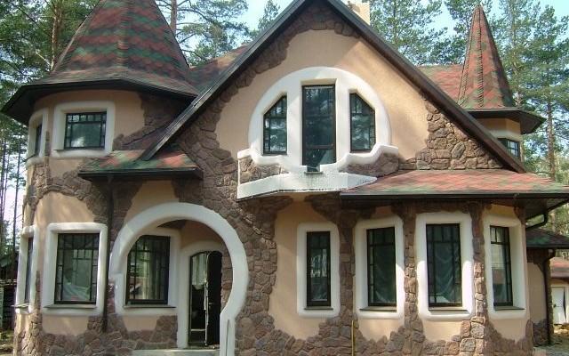 отделка внешняя дома фото