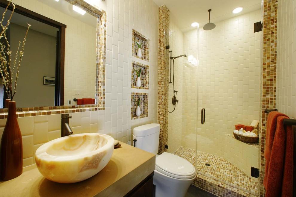 Ванная с мозаикой интерьер фото