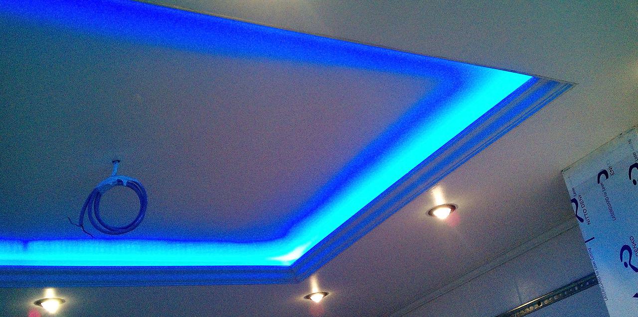 Как сделать потолок в квартире с подсветкой 703