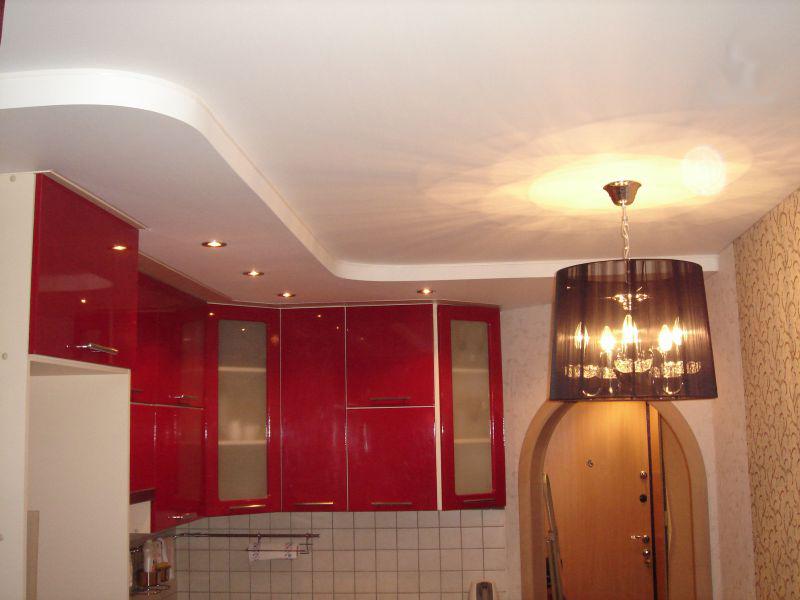 Навесной потолок своими руками в кухне