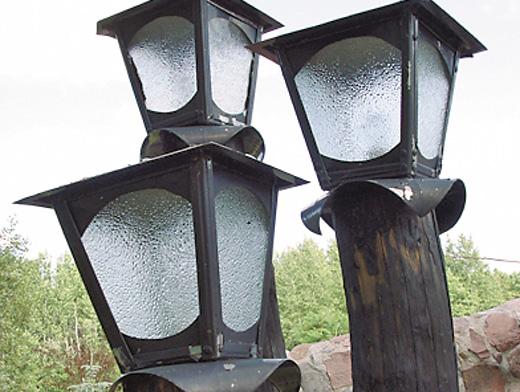 Уличные светильники для дачи своими руками фото