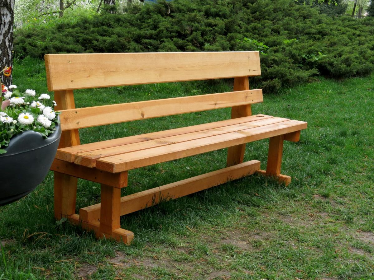 скамейка своими руками из дерева со спинкой фото