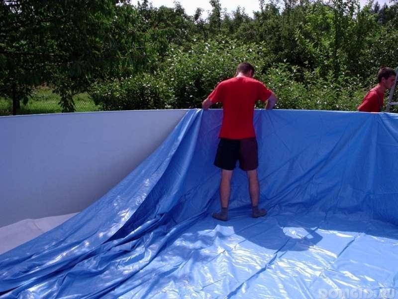 Как уложить пленку для бассейна своими руками 47
