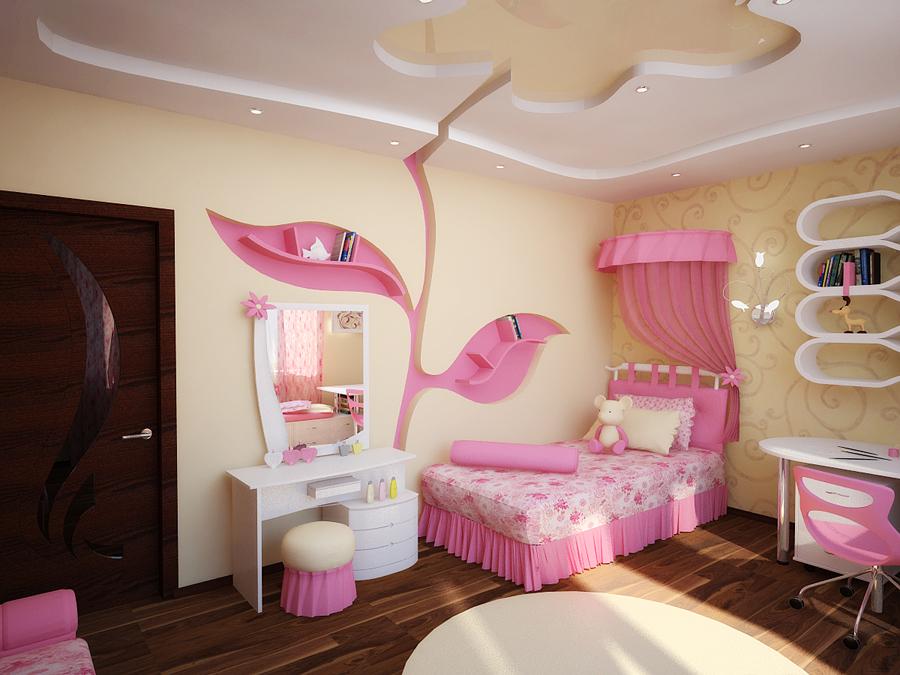 Дизайн детских спален для девочек