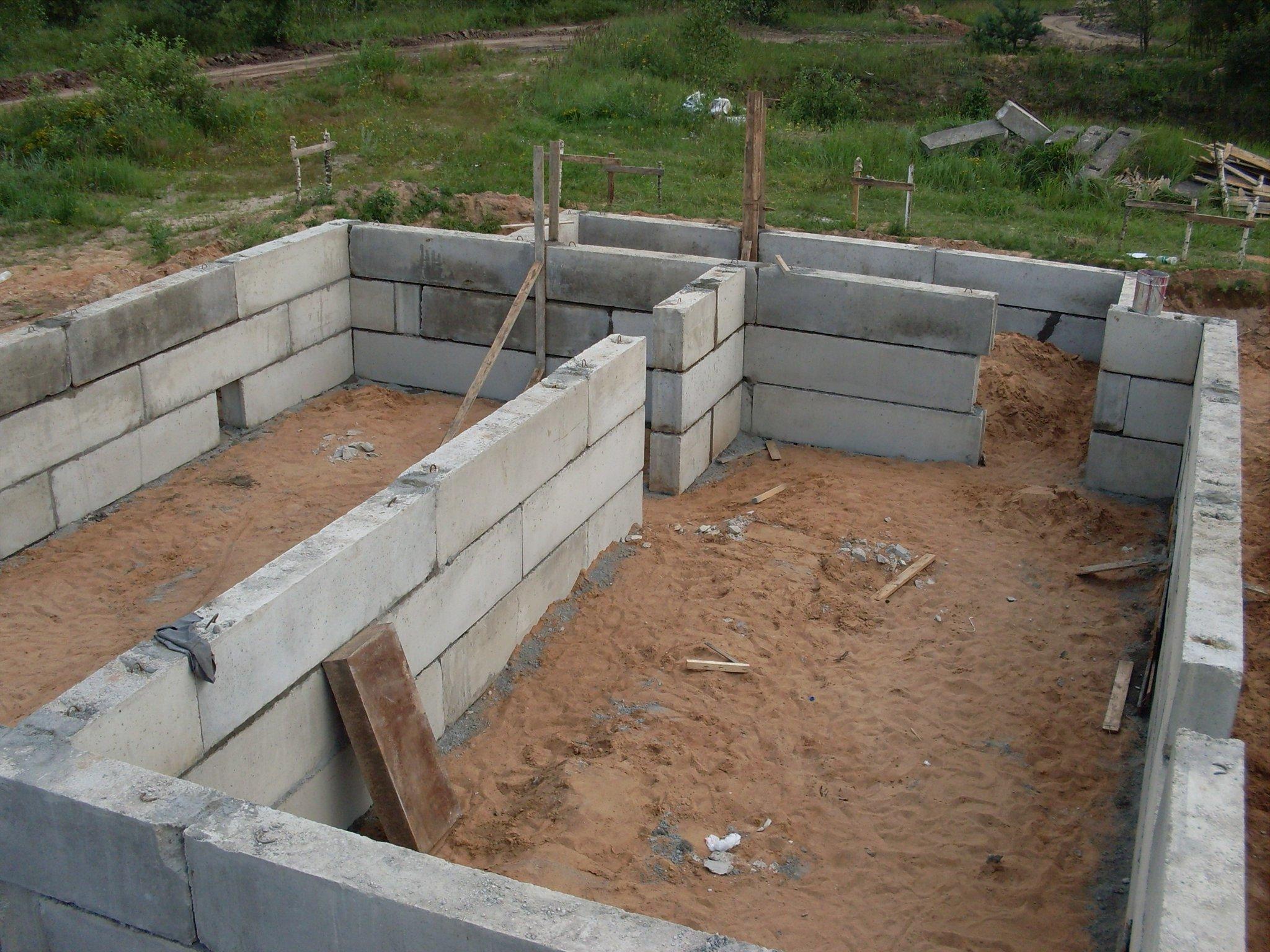 Фундамент из бетона своими руками